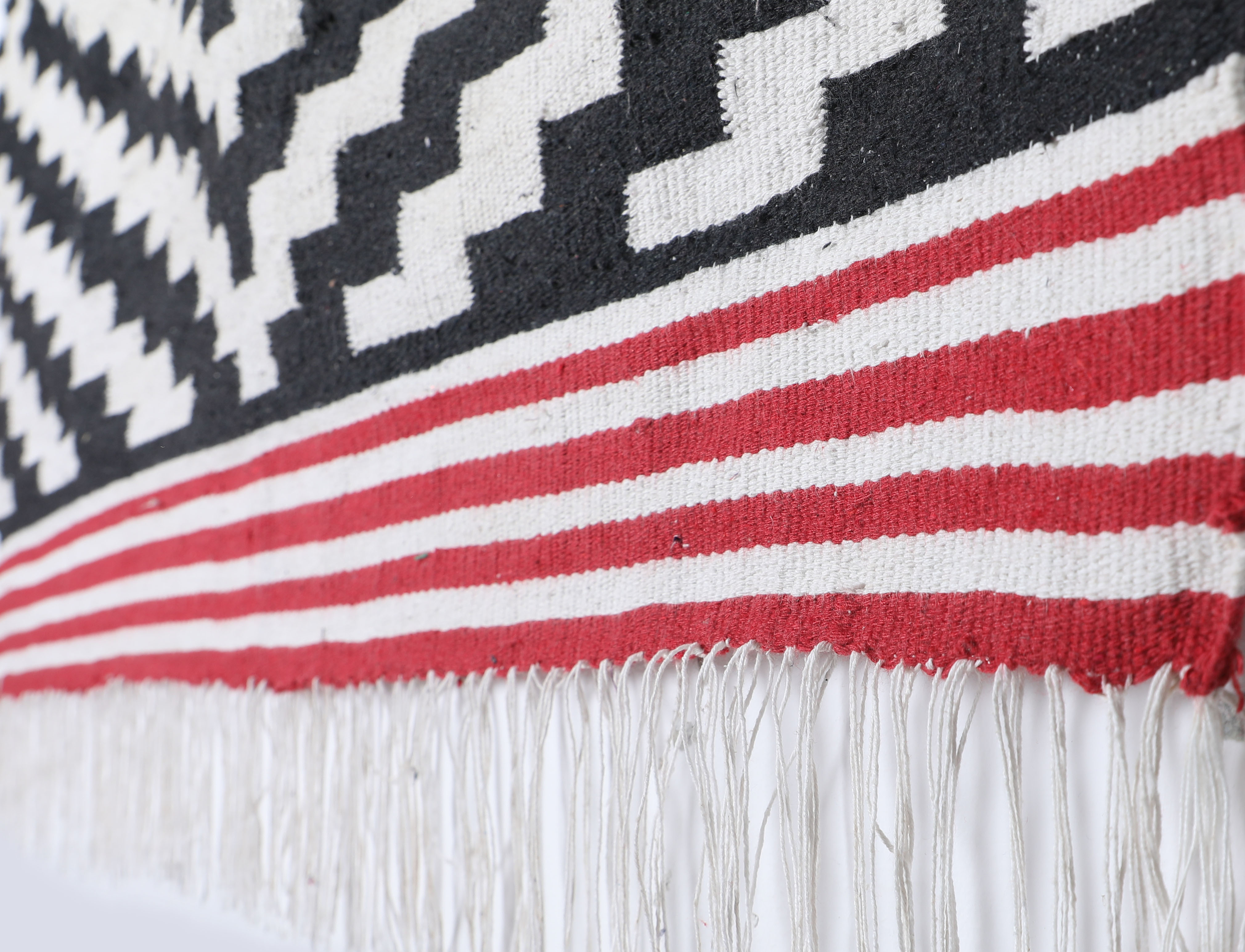 Hand Woven Cotton Dhurrie Rug